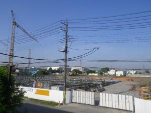 8.1工区基礎配筋・2工区基礎足場組・水平式タワークレーン設置